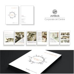 redaction et mise en page du dossier de presse airbus corporate jet centre pour le salon aircraft interiors expo en allemagne