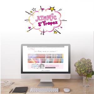 creation d'élements web pour le site e-commerce d'atomic saint tropez, mode