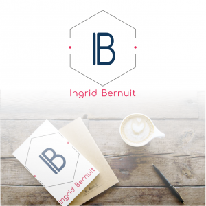 création d'identité visuelle en monogramme pour ingrid bernuit